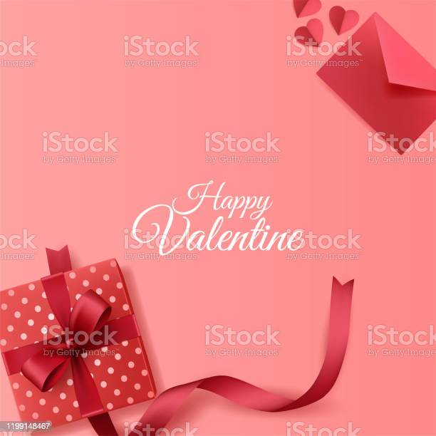 Happy valentines day background with envelope and giftbox decorations vector id1199148467?b=1&k=6&m=1199148467&s=612x612&h=fwxyxnk0kzi 7fg4bxwzpteogxmqtzupgmubkajgkp8=