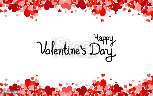 istock Happy Valentines Day background with hearts. 1196797698