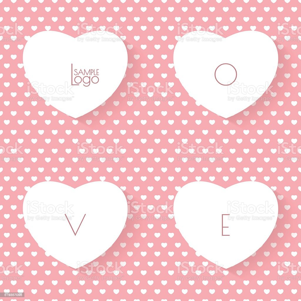 Glücklich Valentinstag Hintergrund Karte Ausdrucken Ohne Stock ...