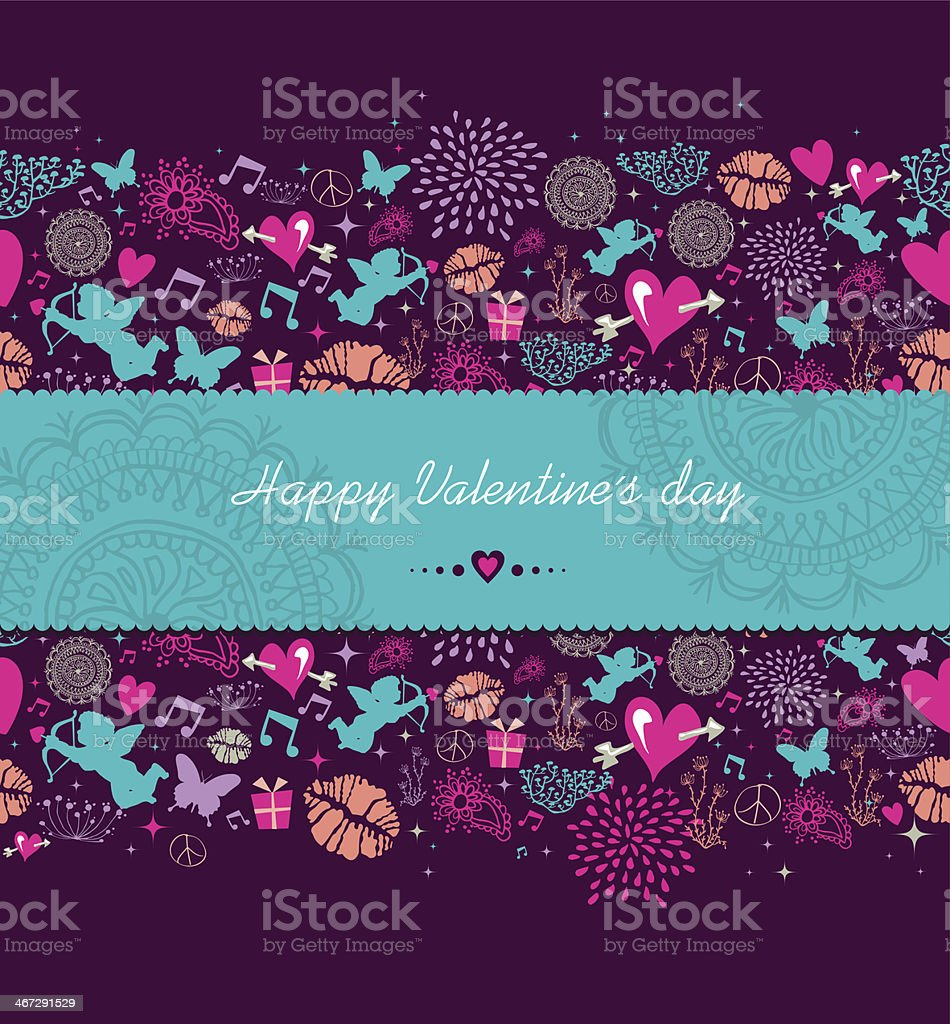 Happy Valentine`s day banner background royalty-free stock vector art