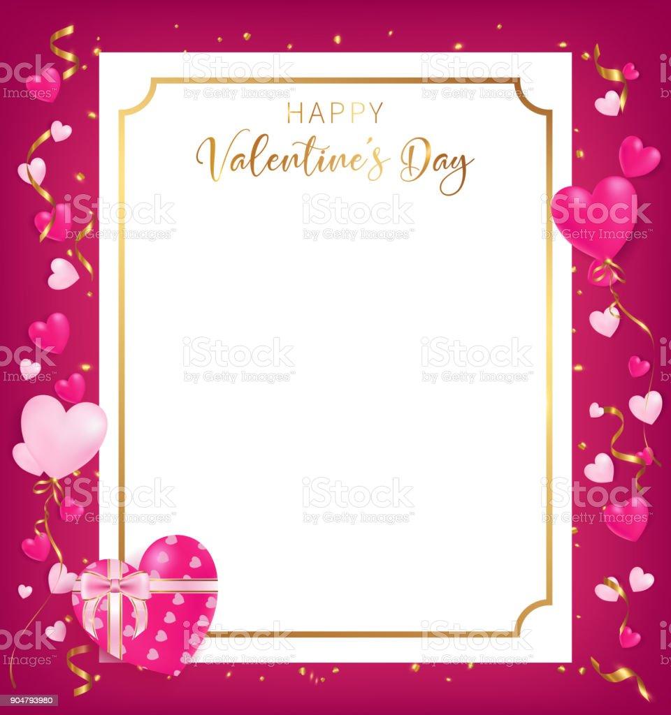 Happy Valentine's Day banner conception