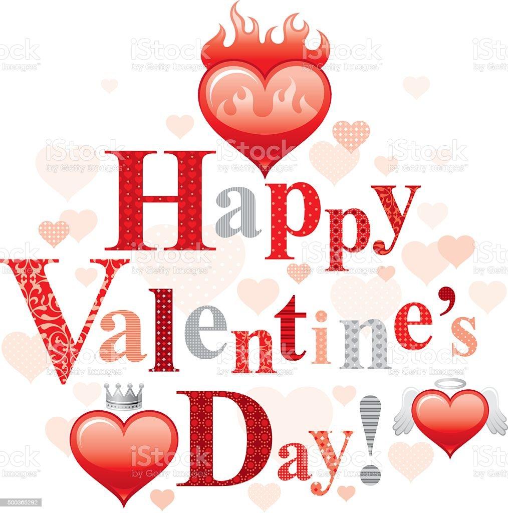 3 credits - Happy Valentines Day Text