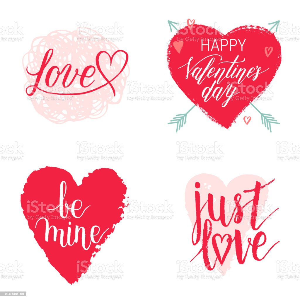 Happy Valentines Day Be Mine Just Love Greeting Cards Posters With