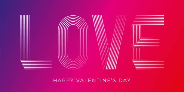 Happy Valentines Day. Beautiful modern greeting card. vector art illustration