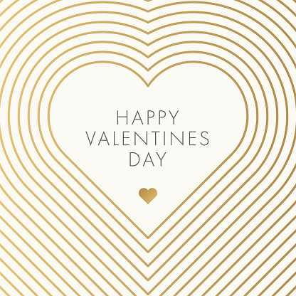 Happy Valentines Day. Beautiful modern greeting card.
