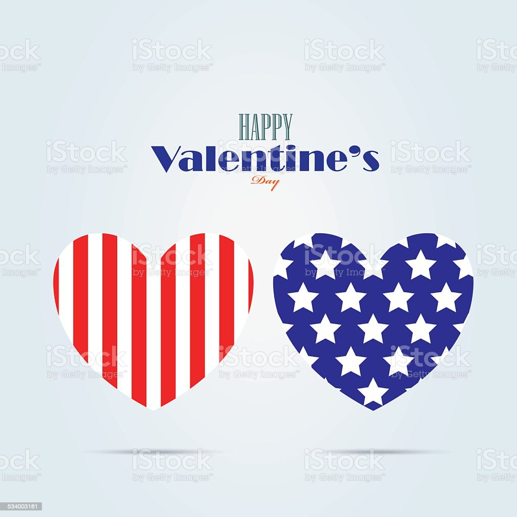 happy valentine's day card design vector art illustration