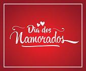 Happy Valentines Day (Dia dos Namorados) card, lettering design
