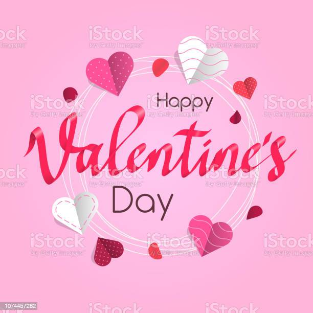 Happy valentines day card template with hearts and rose petals vector id1074457282?b=1&k=6&m=1074457282&s=612x612&h=bn4g a3rptaluxyzy96l5zrsvjbfj8a9wdmgeazsno8=