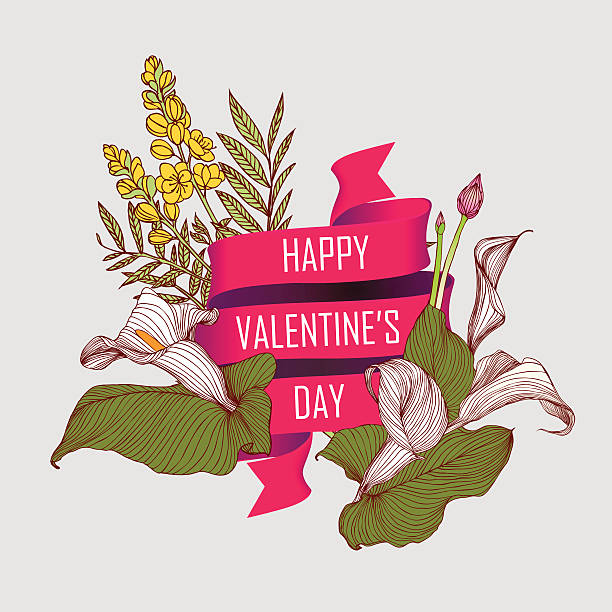 Heureuse Saint Valentin carte - Illustration vectorielle