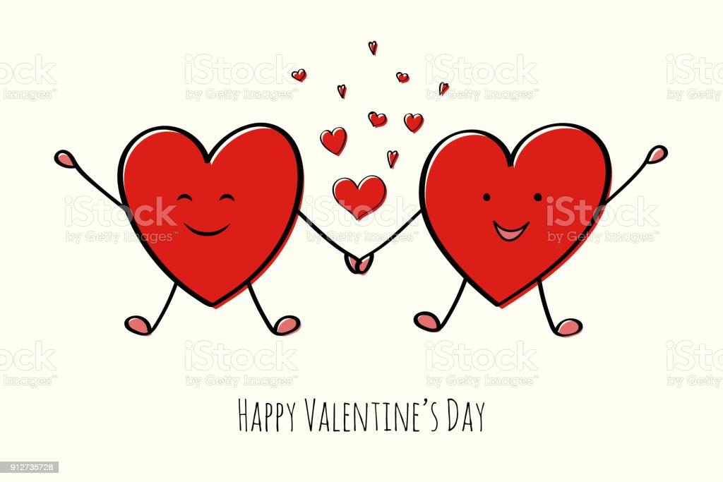 Vetores De Feliz Dia Dos Namorados Cartao Com Coracoes Bonito Dos