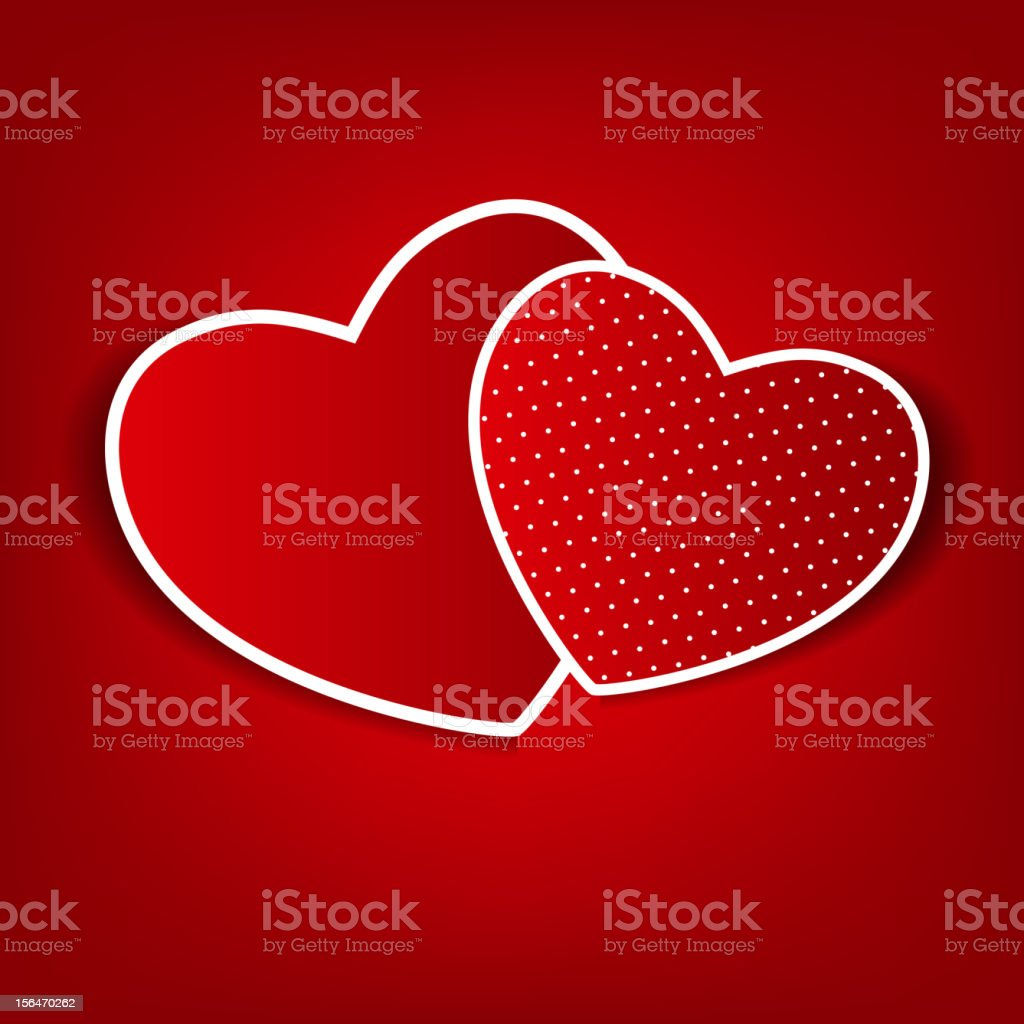 Happy Valentines Day card with heart. Vector illustration vector art illustration