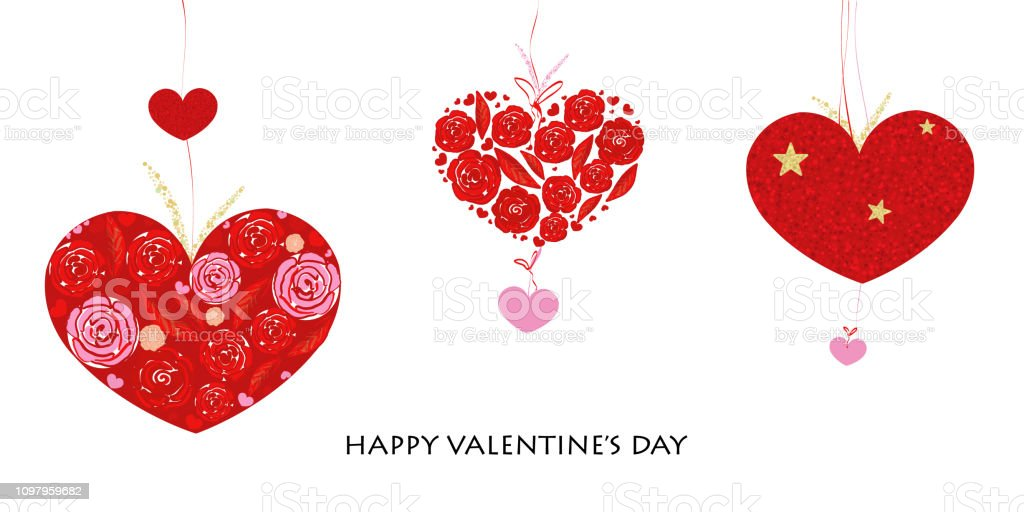 Happy Valentines Day Card With Love Valentines Hearts