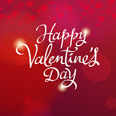 Celebrate the Valentine's Day with the red heart shaped background
