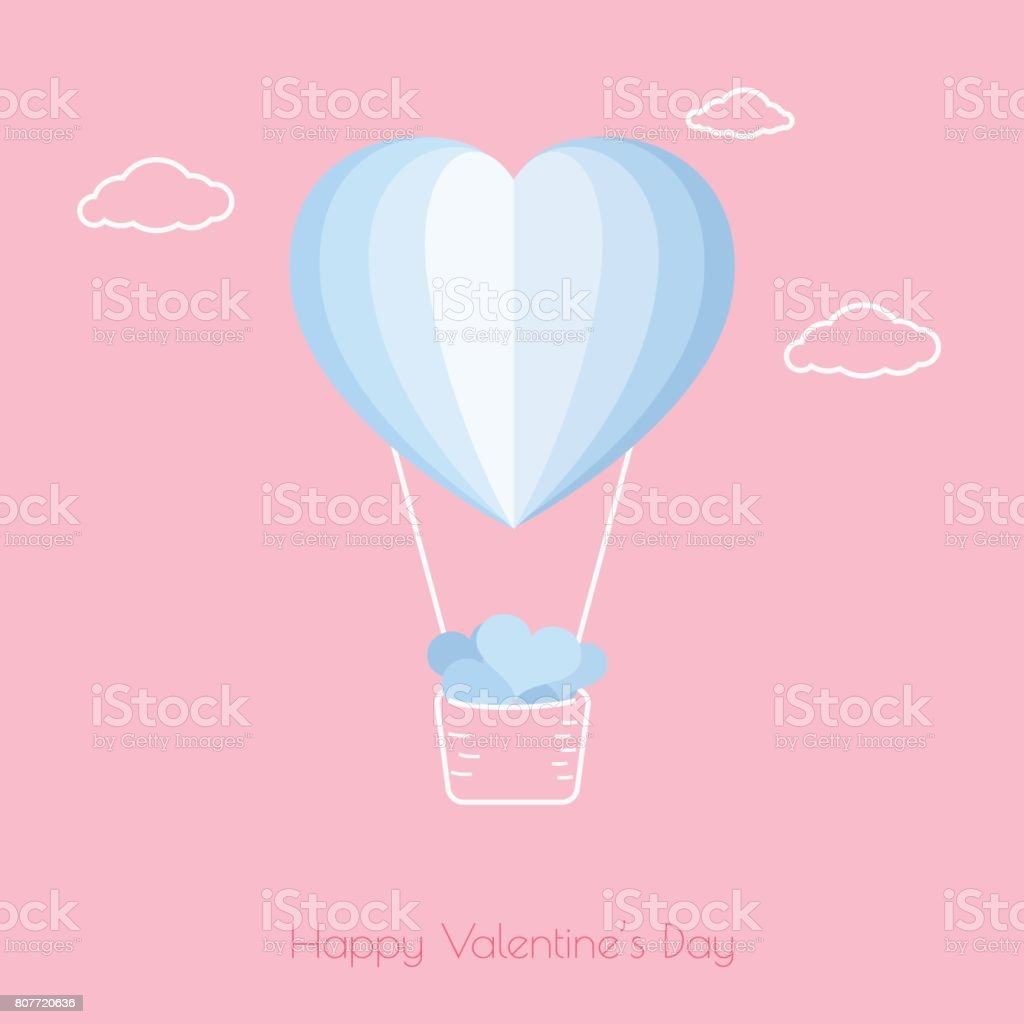 Happy valentines day concept of love heart shape hot air balloon happy valentines day concept of love heart shape hot air balloon carrying a lot of jeuxipadfo Choice Image