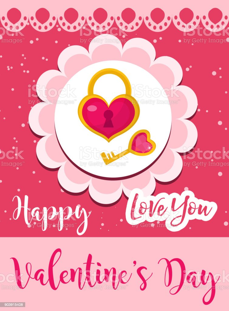 Happy Valentines Day Cute Poster Invitation Greeting Card Valentines