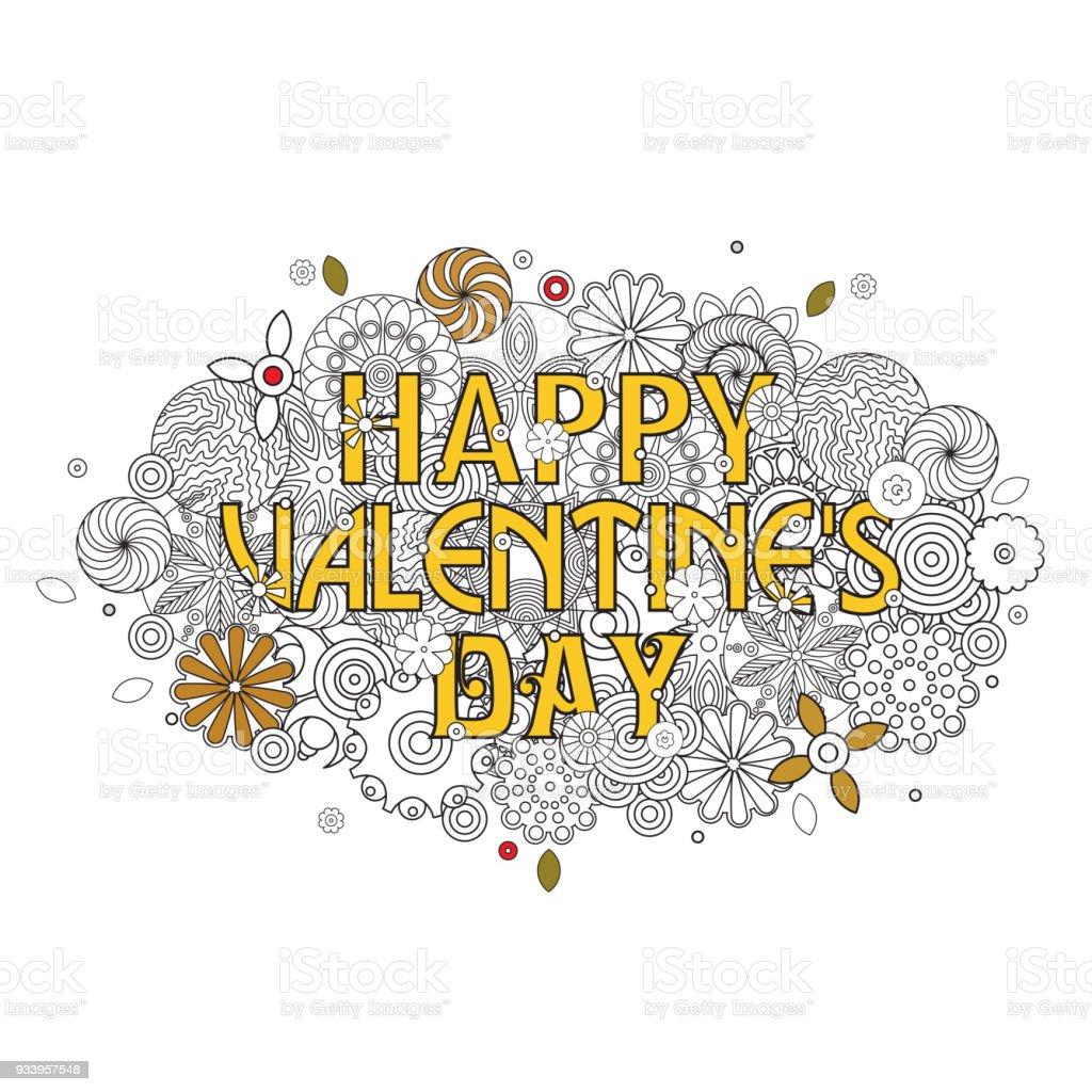 Mutlu Sevgililer Günü Tasarım Bulut şekil Deseni Işareti Ile Retro