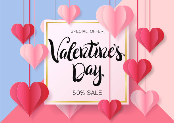 happy valentine's day design for greeting card. - valentine card stock illustrations
