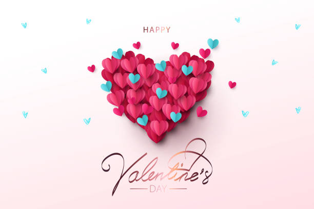 happy valentine's day festive design banner, greeting card or poster. - valentines day stock illustrations