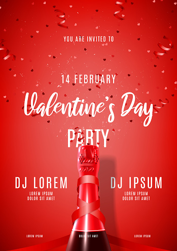Happy Valentine's Day festive party poster