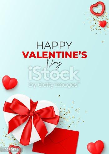 istock Happy Valentine's Day flyer 1297267111