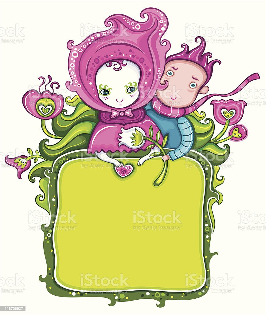 Happy Valentines day frame! royalty-free stock vector art
