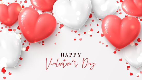 Happy Valentine's Day greeting banner
