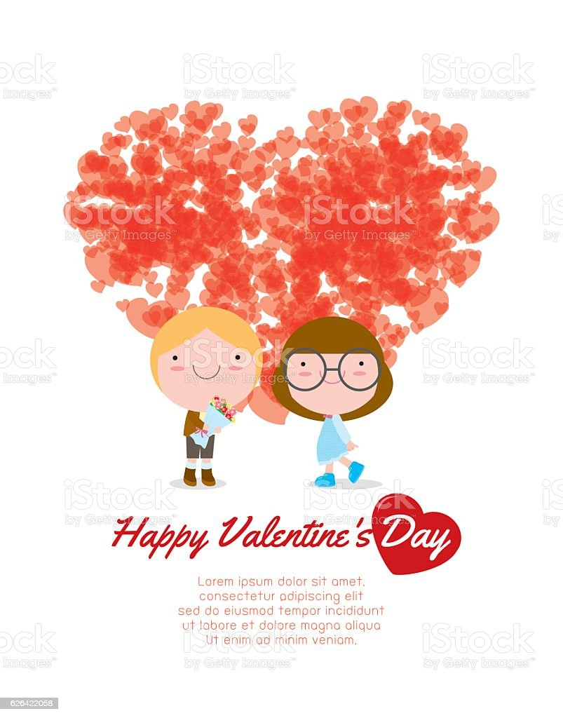 Happy Valentines Day Greeting Card Background Couple In Love Sweetheart Royalty Free Happy
