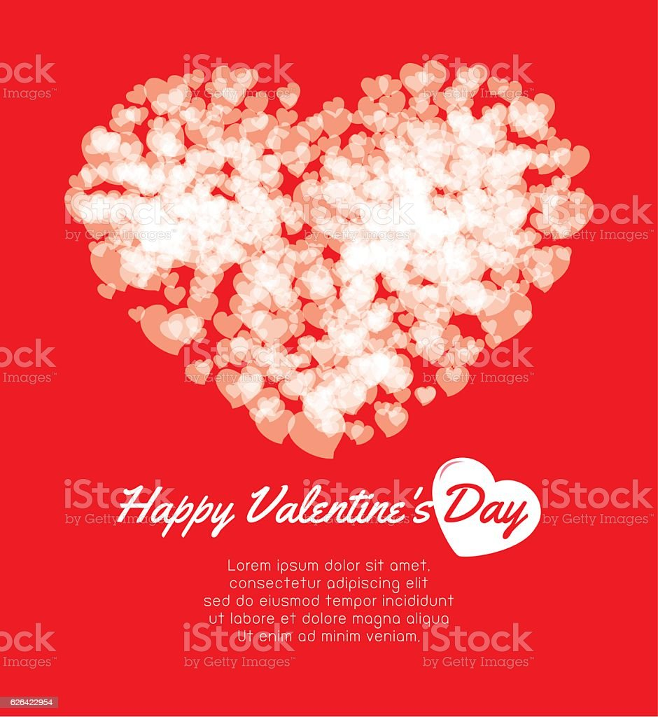 Happy Valentines Day Greeting Card Background Couple In Love