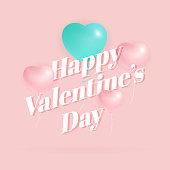 Happy Valentine's Day Greeting Card Background Design