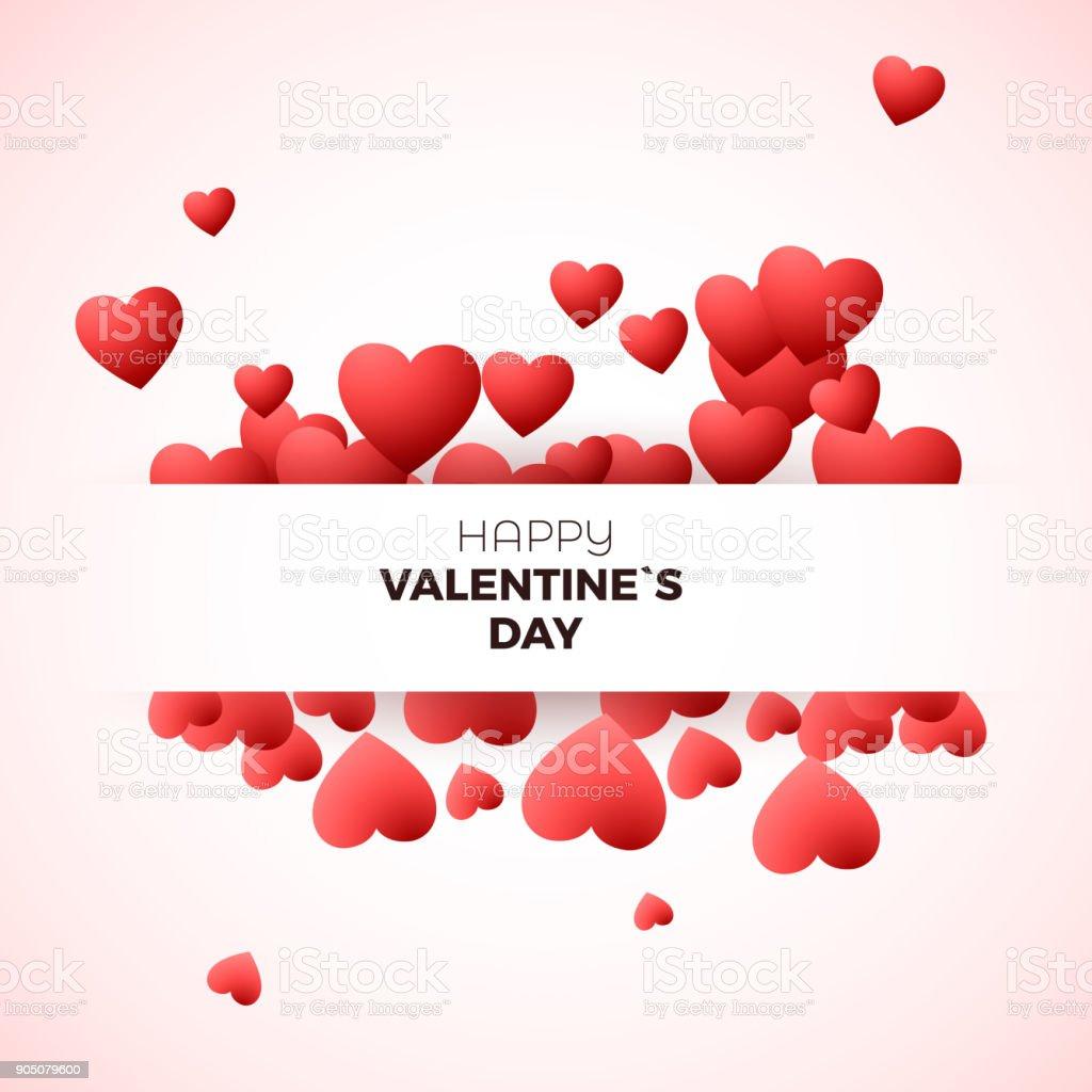 Happy Valentinstag Grusskarte Konzept Designvorlage Fur Einladung