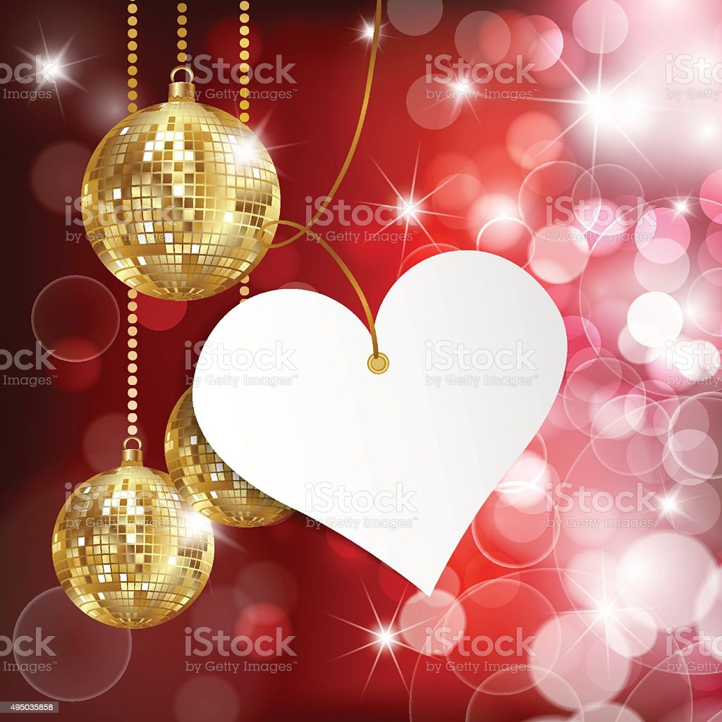 Happy Valentineu0027s Day. Greeting Card On Red Background Royalty Free Stock  Vector Art