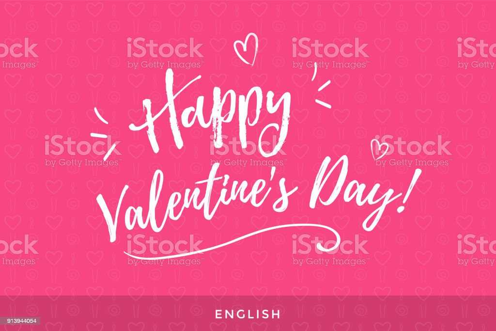 Happy valentines day greeting lettering in english language stock happy valentines day greeting lettering in english language royalty free happy valentines day greeting lettering m4hsunfo