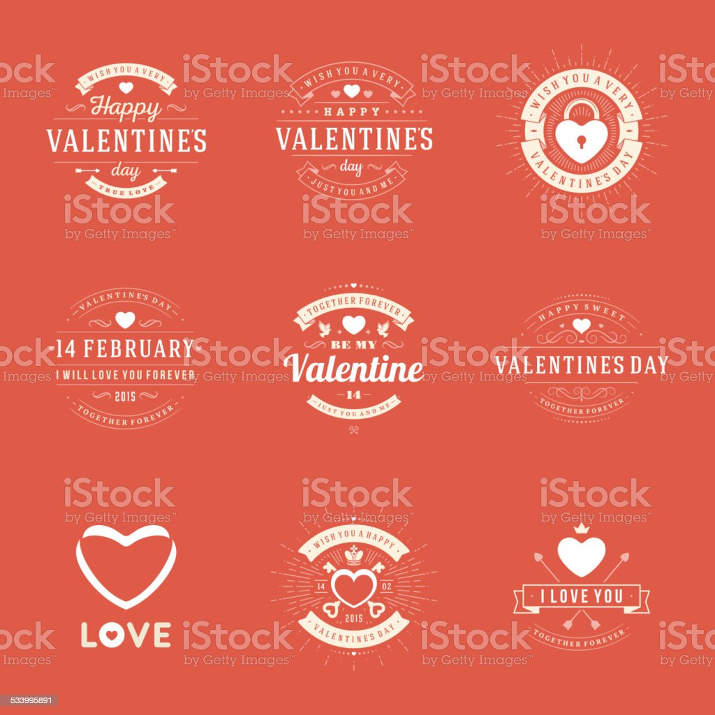 Happy valentines day greetings cards labels badges stok vektr happy valentines day greetings cards labels badges royalty free stok vektr sanat m4hsunfo