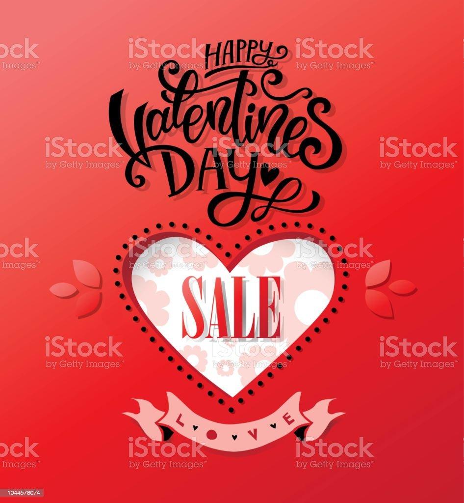 Happy Valentines Day Handgezeichneten Schriftzug