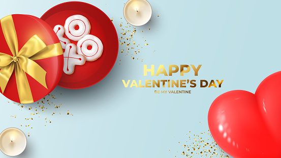 Happy Valentine's Day holiday banner