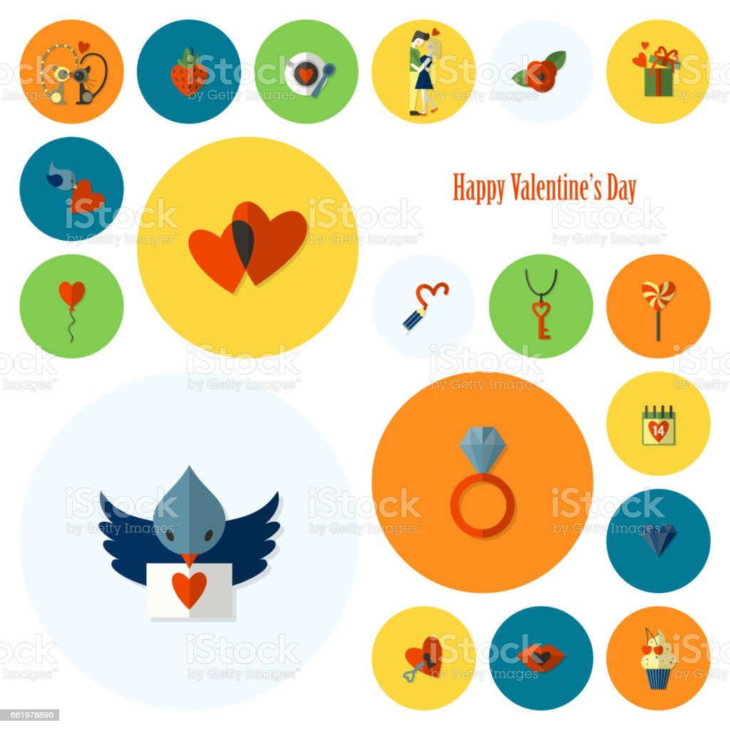 Happy Valentines Day Icons royalty-free happy valentines day icons stock vector art & more images of arrow symbol