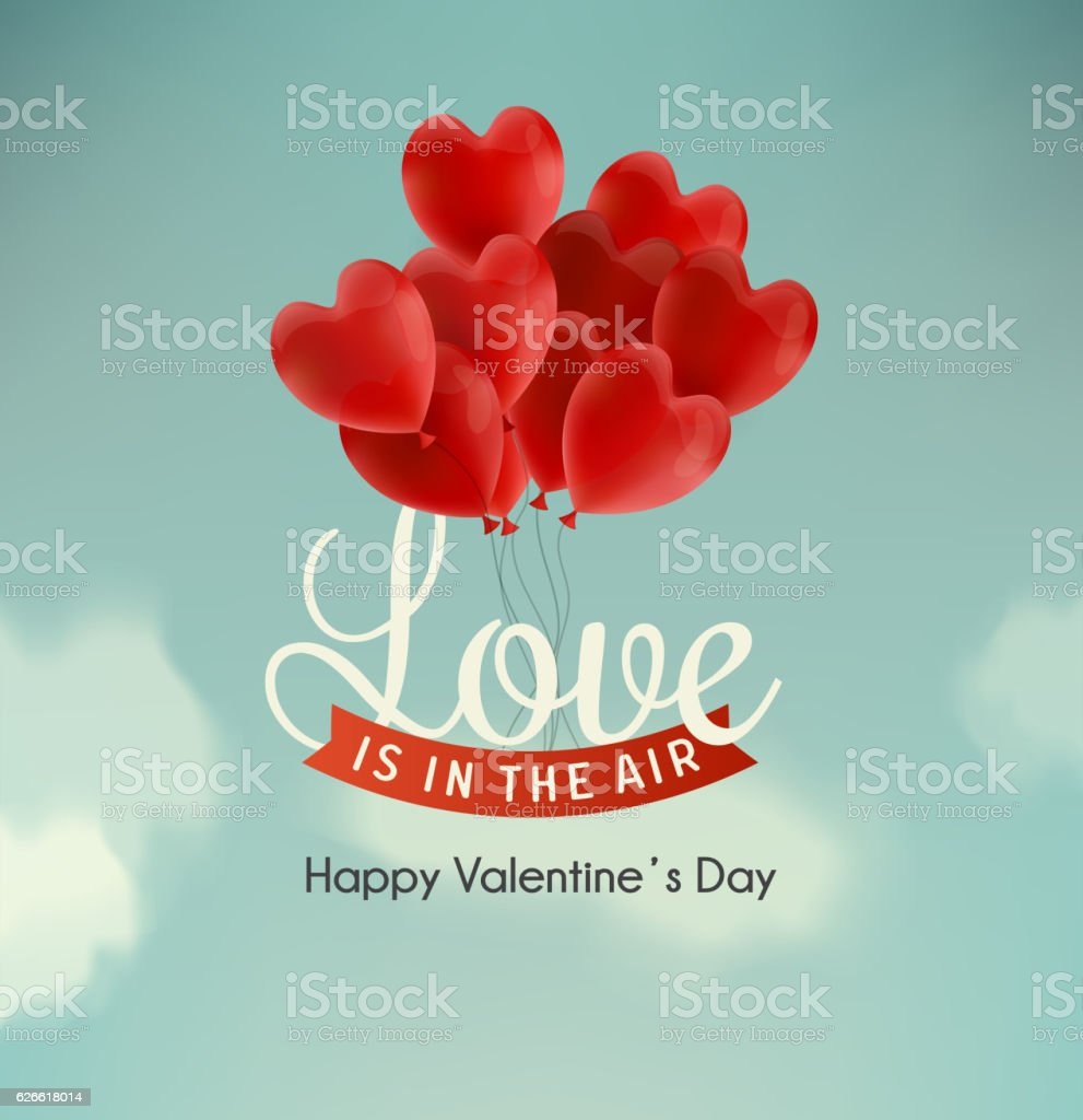 Happy valentine's day illustration vector art illustration