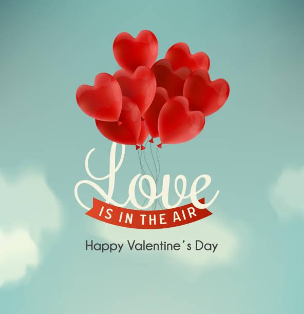 stockillustraties, clipart, cartoons en iconen met happy valentine's day illustration - romantiek begrippen
