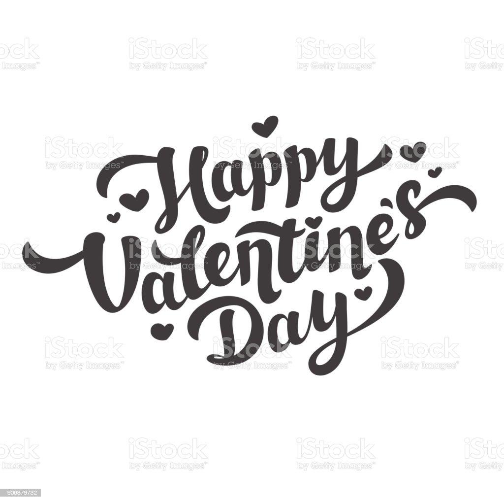 Ilustración De Letra De Feliz Día De San Valentín 14 De Febrero