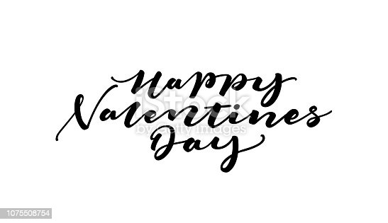 Happy Valentines Day Lettering card design