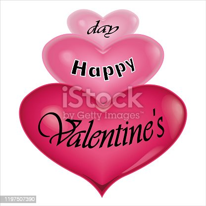 Happy Valentines day. I love you . Heart on background . vector