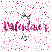 An original artwork vector illustration of a Valentines day message. This short phrase illustration can be use for your design - postcard, invitation, poster or flyer.