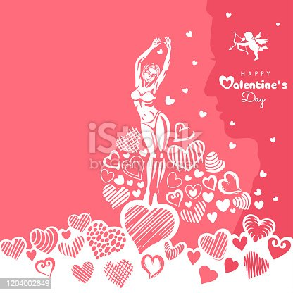 istock Happy Valentine's Day party flyer 1204002649