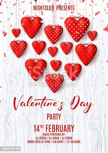 istock Happy Valentine's Day Party Poster 895945204