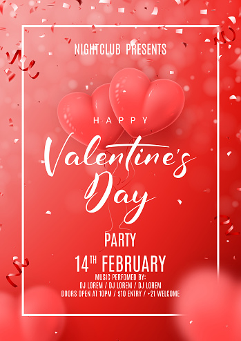 Happy Valentine's Day Party Poster
