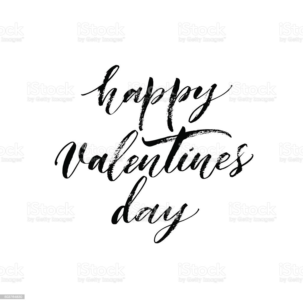 Ilustración De Feliz Día De San Valentín Frase Y Más