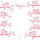 Valentine's Day Poster - Owls