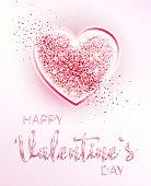 Happy valentines day. Romantic design card.