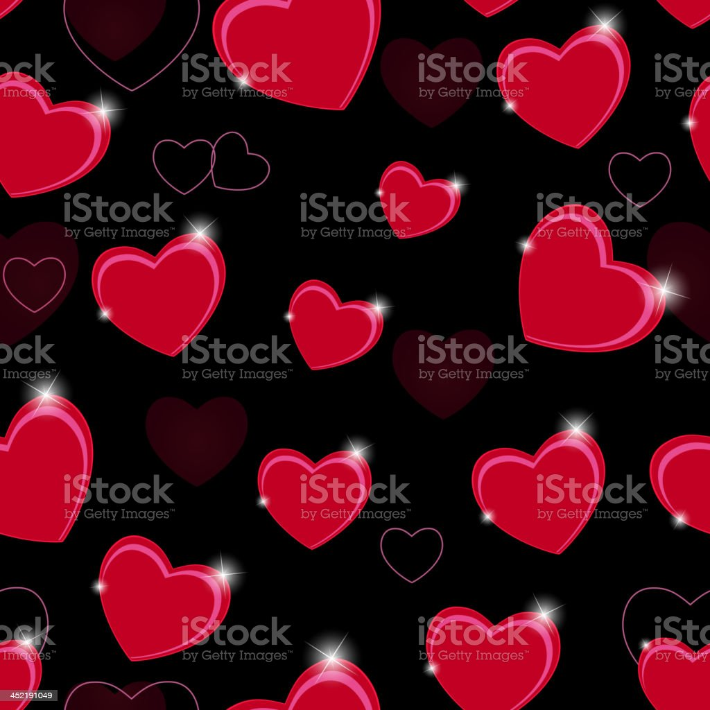 Happy Valentines Day seamless pattern background with heart. Vector illustration royalty-free happy valentines day seamless pattern background with heart vector illustration stock vector art & more images of anniversary