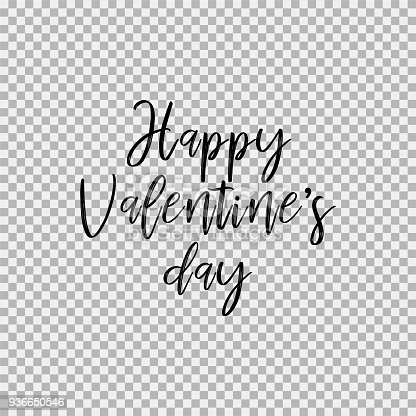 Happy Valentines Day Transparent Background Stock Vector Art More